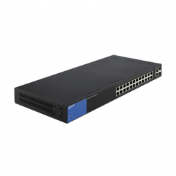 Linksys Business 24-Port Gigabit PoE+ (192W) Smart Managed Switch + 2x Gigabit SFP/RJ45 Combo Ports (LGS326P)