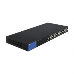 Linksys Business 24-Port Gigabit PoE+ (192W) Managed Switch + 2x Gigabit Ethernet + 2x Gigabit SFP/RJ45 Combo Ports (LGS528P)